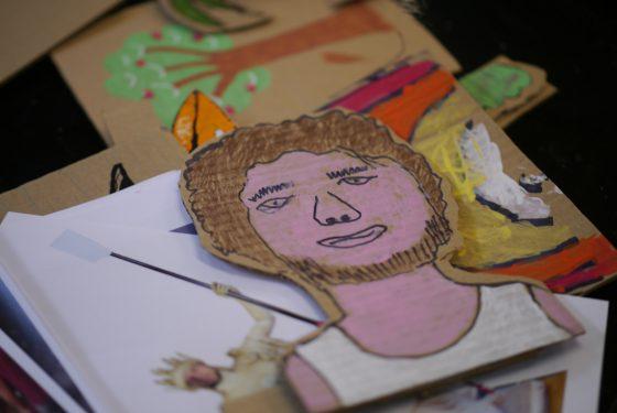Cardboard cutout of Tom Ransley