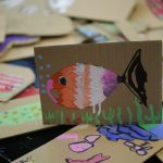 Cardboard cutout of fish
